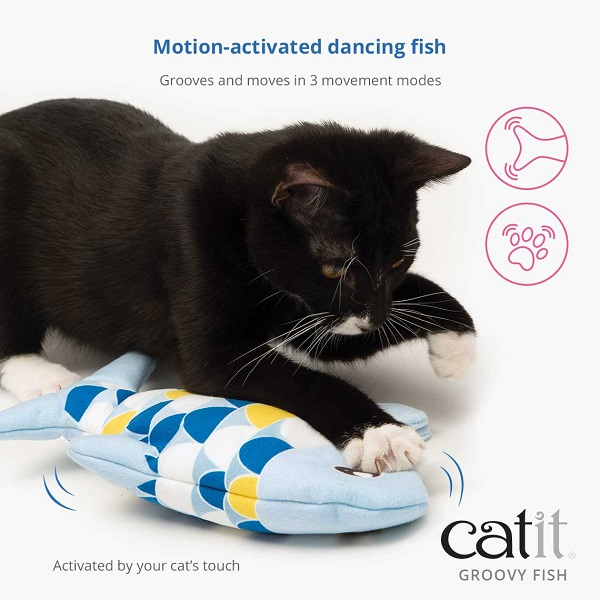 Catit Motion Activated Dancing Groovy Fish